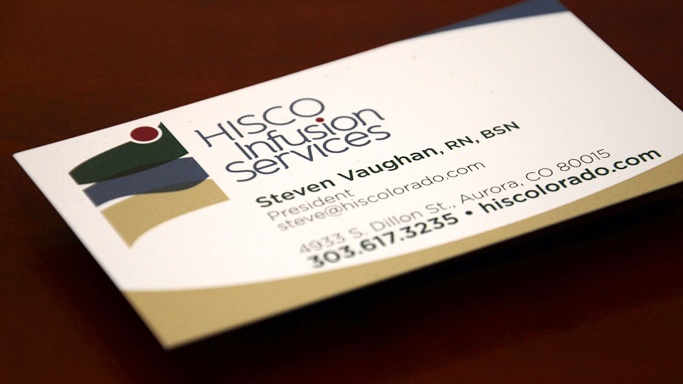 HISCO Infusion Services Business Cards