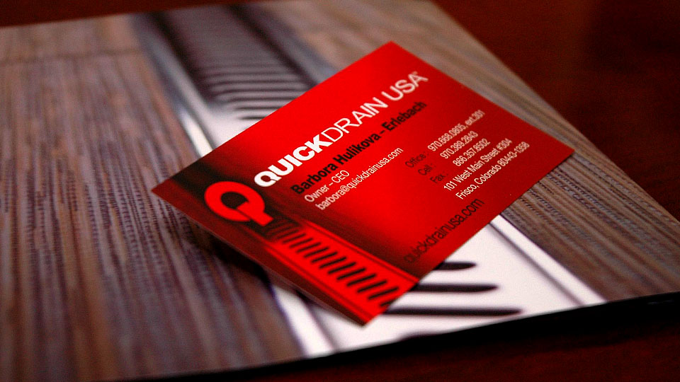 QuickDrain Business Cards