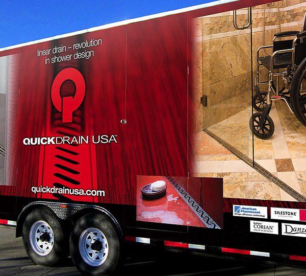 Quick Drain Trailer Full Wrap Side