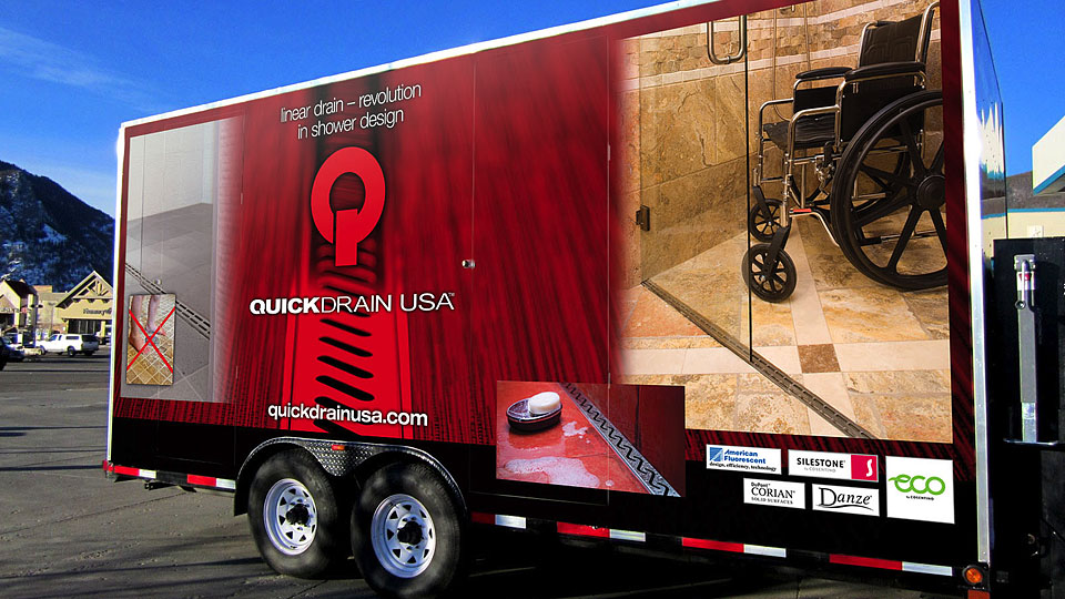 Quick Drain Trailer Full Wrap Side