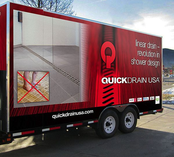Quick Drain Trailer Full Wrap Side Two