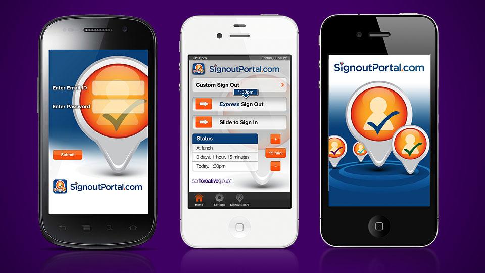 Signout Portal App Creative