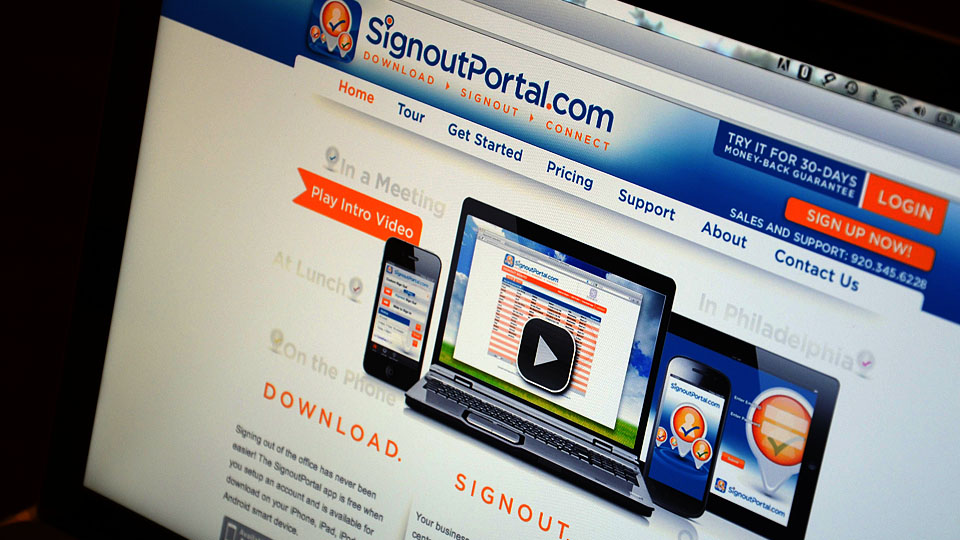 Signout Portal Website