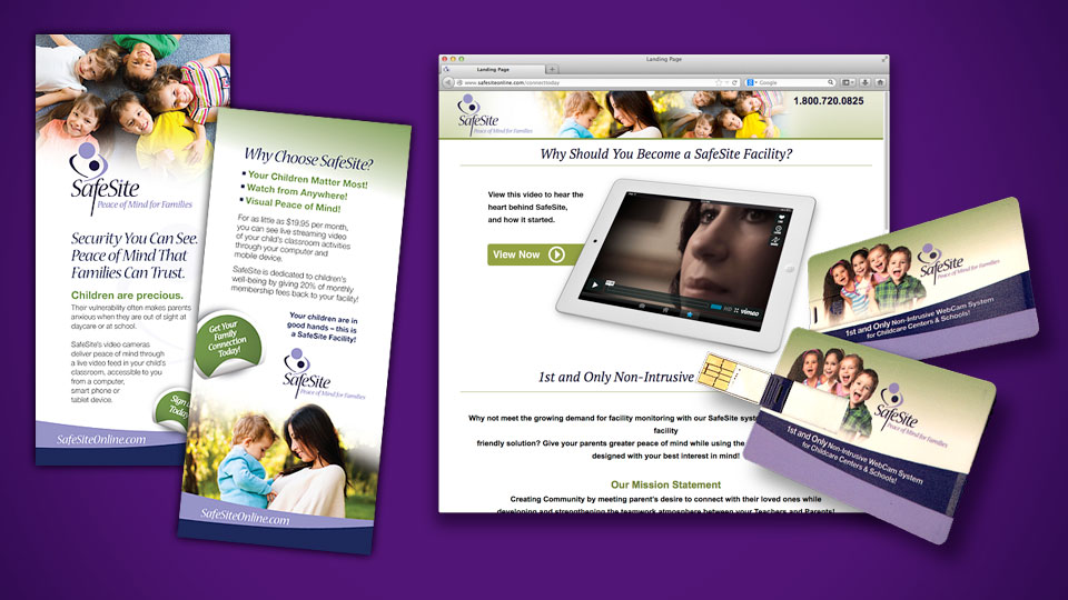 Sales Brochure, Landing Page and USB Flash Card